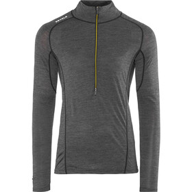 Devold Running Zip Neck LS Shirt Herre anthracite